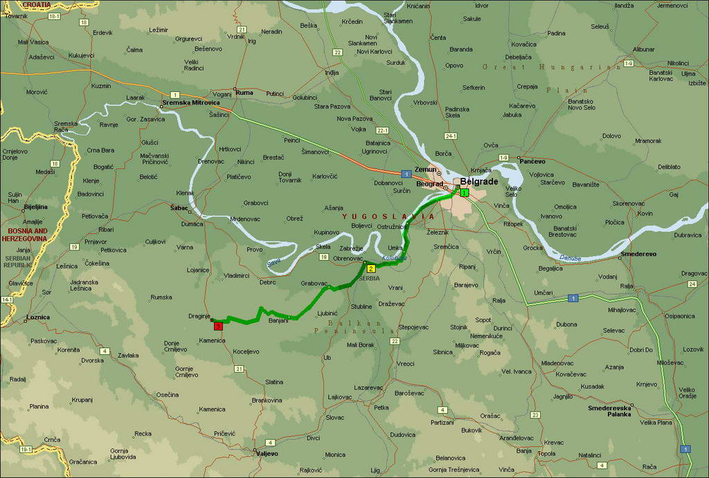 obrenovac mapa ECO  Contact obrenovac mapa